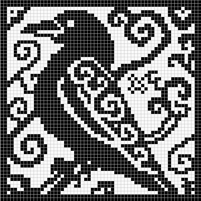 Spirit Raven Chart pattern by Melanie Nordberg