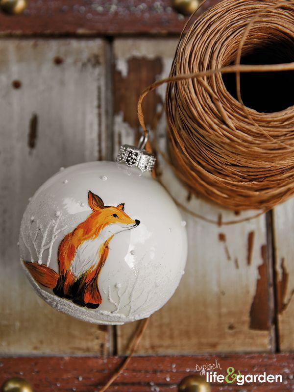 Vrolijke kerstbal met vosje thema rustic woods pinterest met - Deco eetkamer rustiek ...