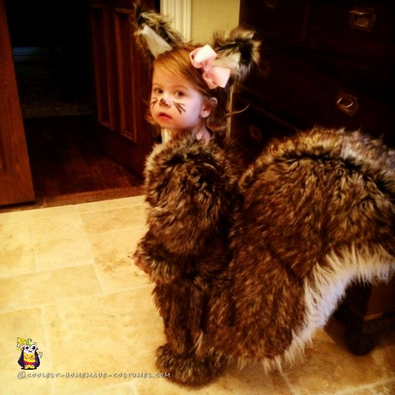 People Nuts Toddler Squirrel Costume Homemade