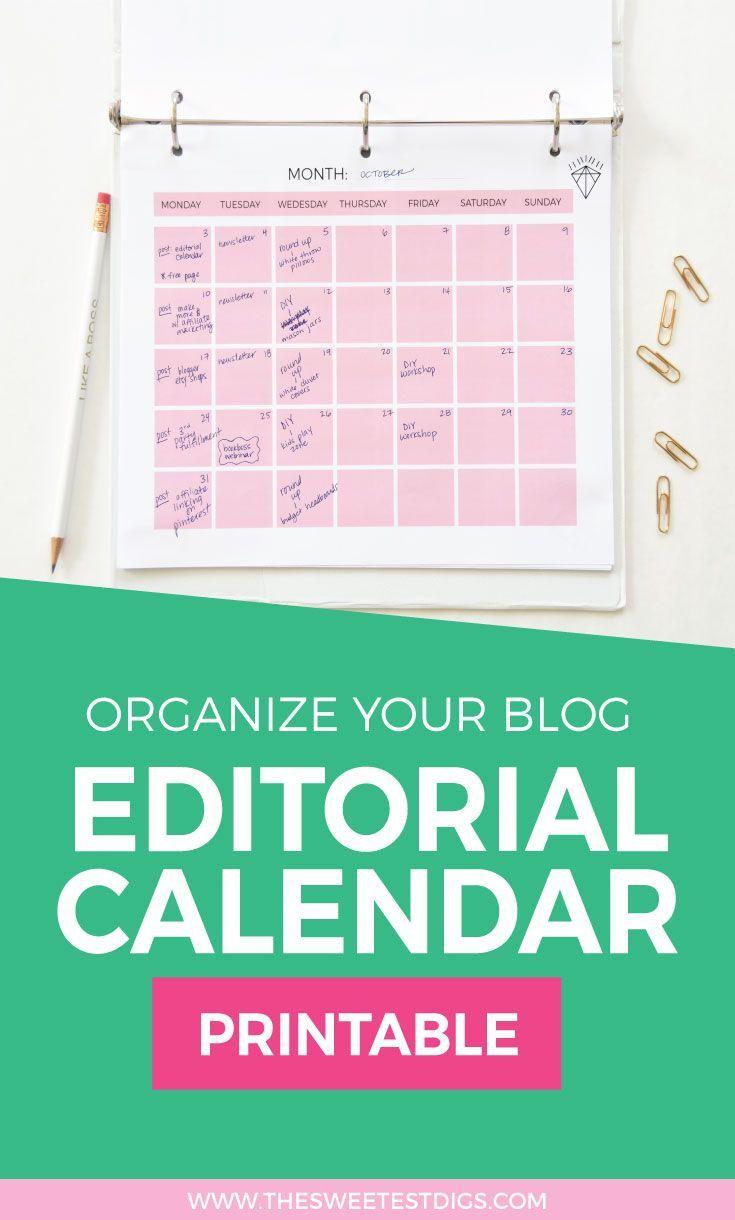 Blog Editorial Calendar  Free Editorial Calendar Template  How