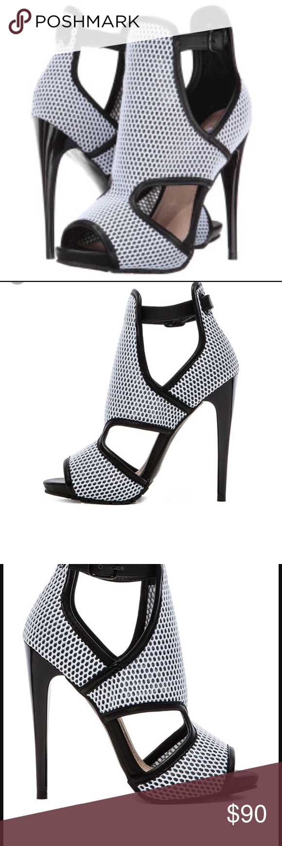 6697e7a44a6 Steve Madden X Iggy Azalea brixxton heels Brand new in box. Get brave in  the daring Brixxton. Iggy Azalea by Steve Madden features a white mesh  upper with ...