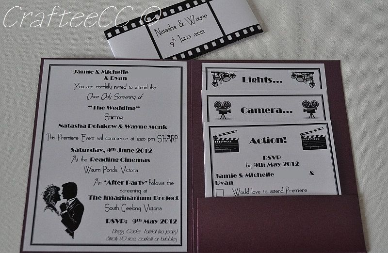 Movie Themed Wedding Invitations Convites Pinterest Themed