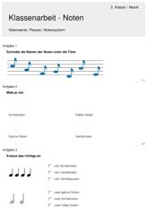 Noten Musik – 3. Klasse – Ott-julia