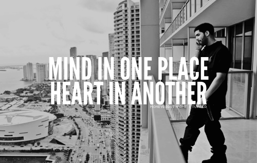 Mind In One Place Heart In Another Lyrics