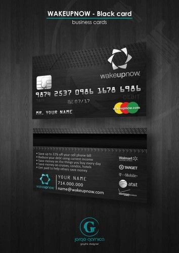 Wake up now black card business cards template print wake up now black card business cards template reheart Images