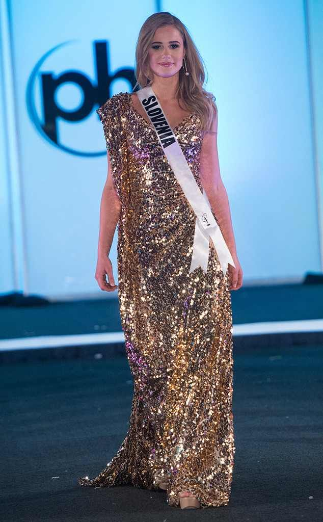 Miss Slovenia from Miss Universe 2017 Evening Gown Competition in ...