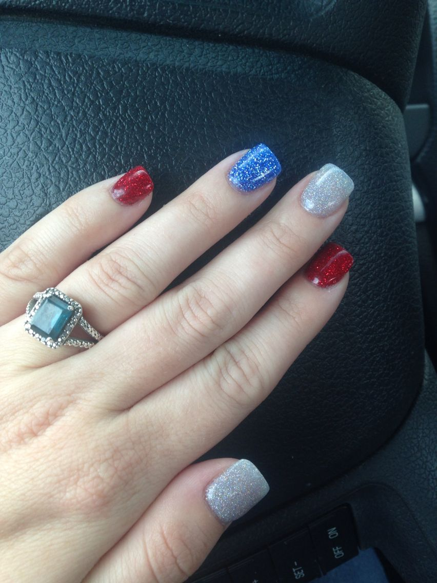 Fourth Of July Nail Dipped Nails Dipped Nails Summer