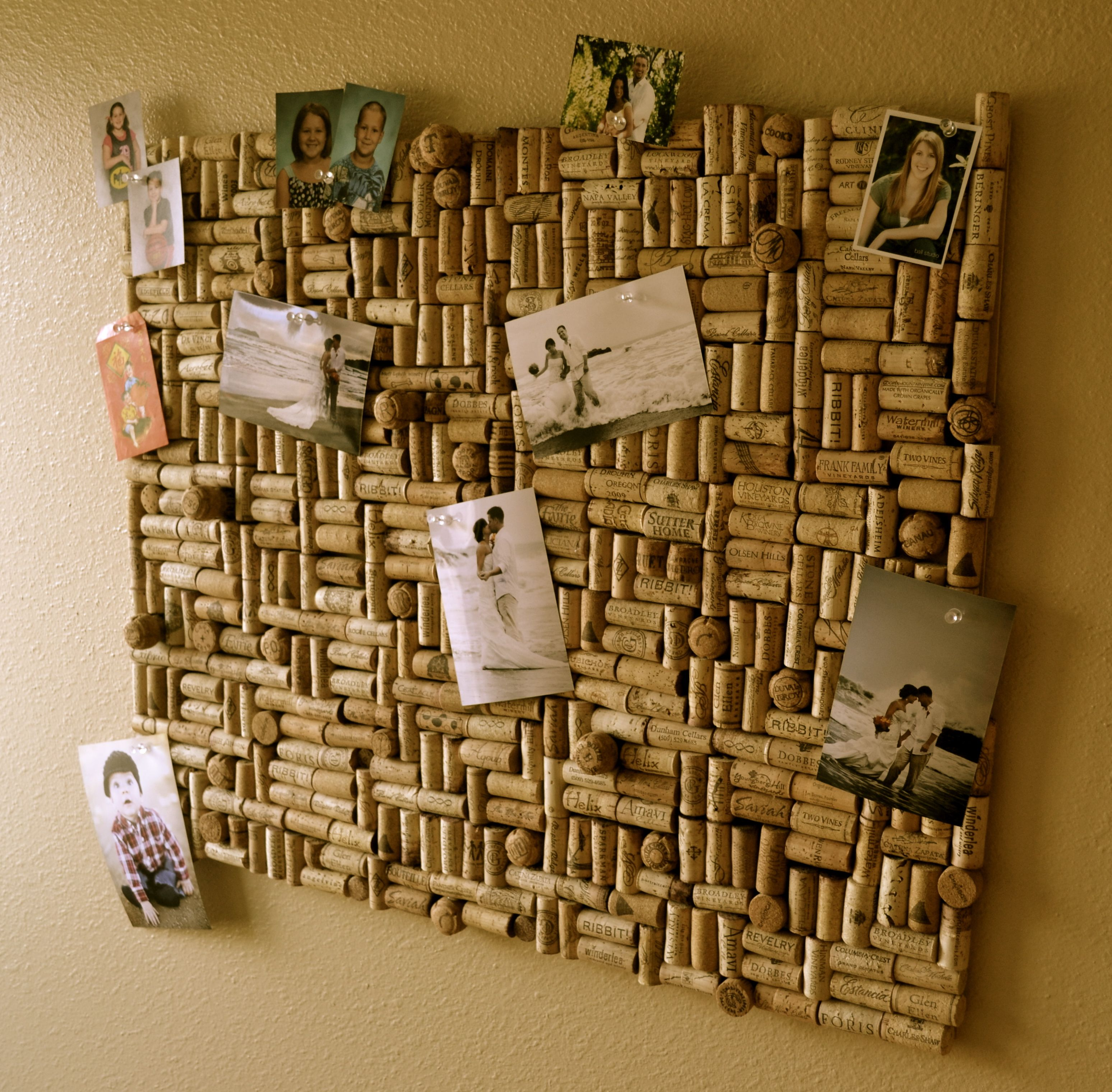 My very own photo cork board!