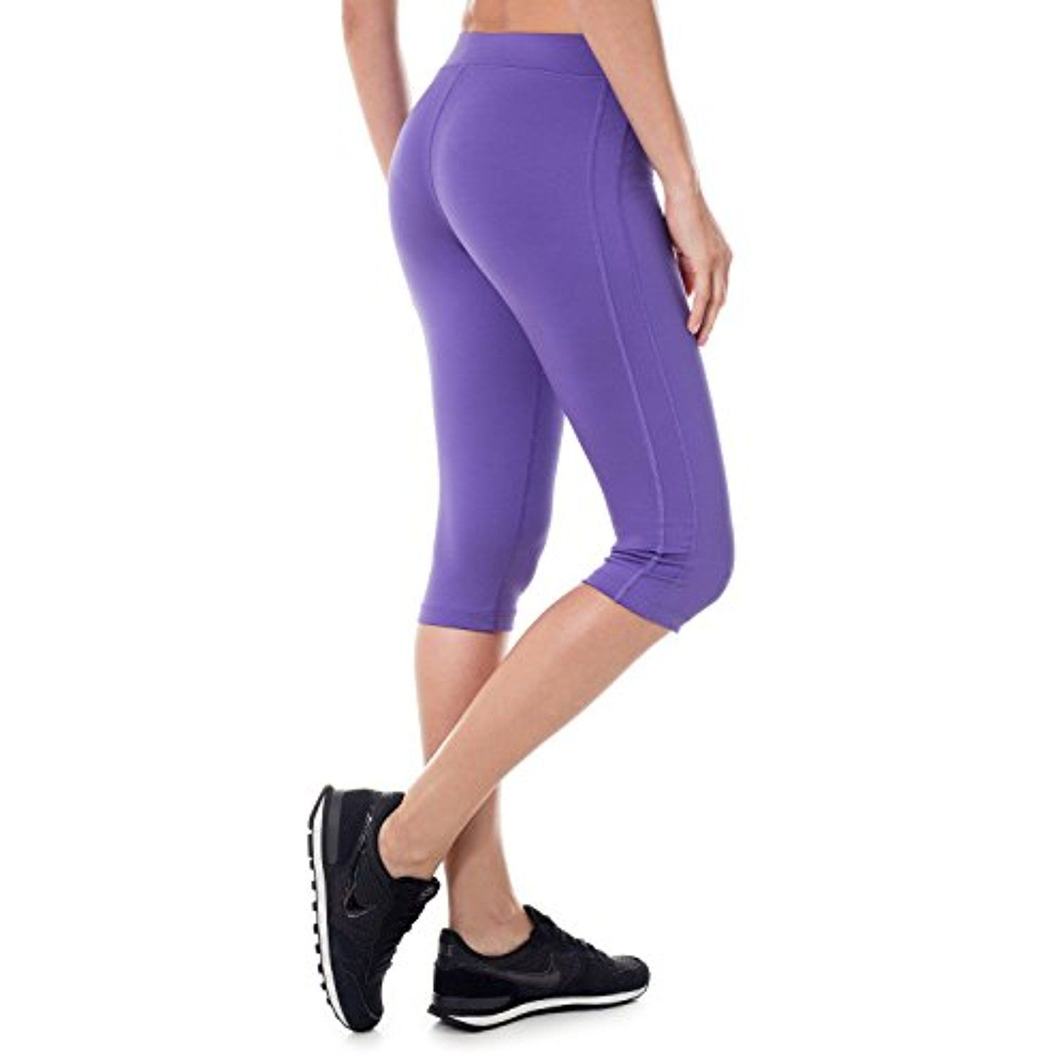 e4687dee206fc SYROKAN Women s Tights Active Athletic Yoga Running Sports Capris Leggings     Click image for more details. (This is an affiliate link)  Running
