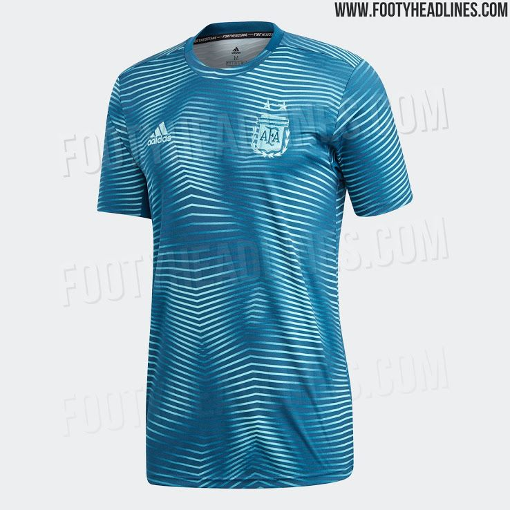 Adidas Argentina 2019 Copa America Pre Match Jersey Soccer Shirts Sports Shirts Jersey Design