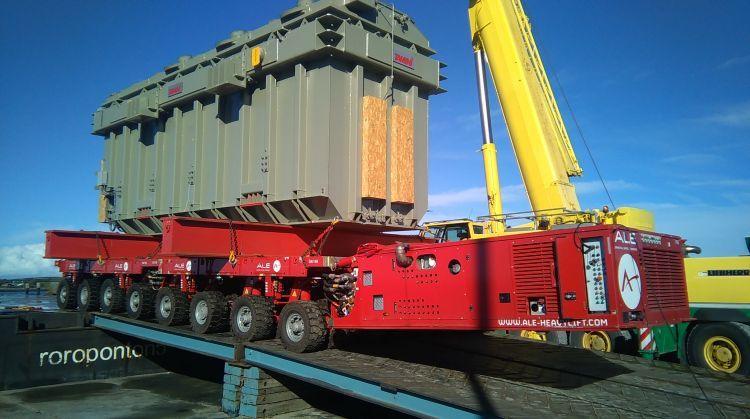 ALE deliver largest transformer in Ireland Schwertransport