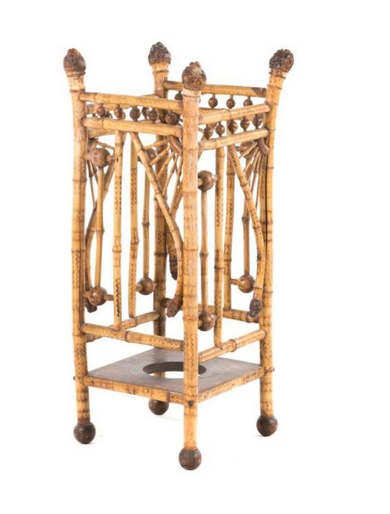 Anglo Indian Bamboo Umbrella Stand Indian Home The