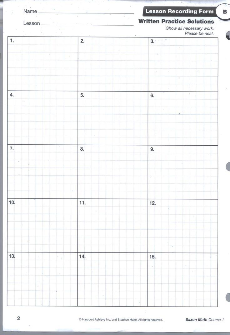 Saxon Math Homework Sheets Saxon Math Math Printables 6th Grade Worksheets