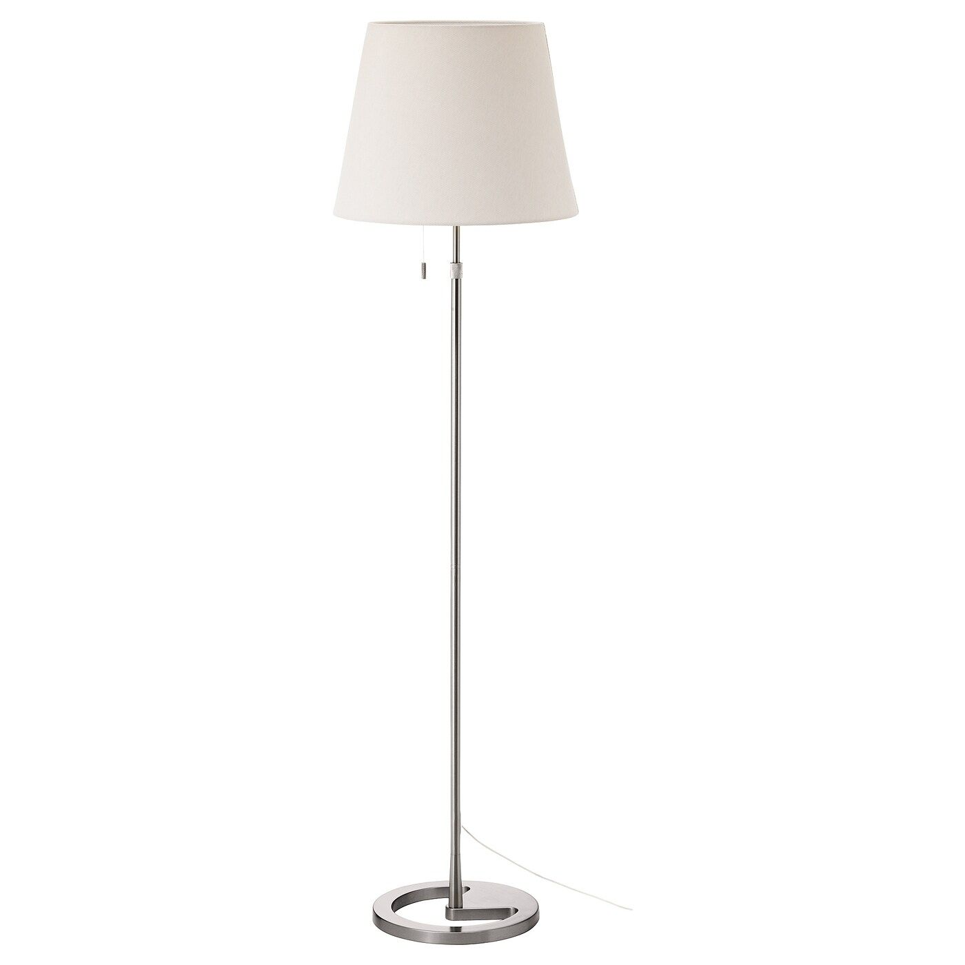Https Www Ikea Com Gb En Images Products Nyfors Floor Lamp Nickel Plated White 0684442 Pe721181 S5 Jpg F Xxxl Floor Lamp Ikea Floor Lamp Lamp