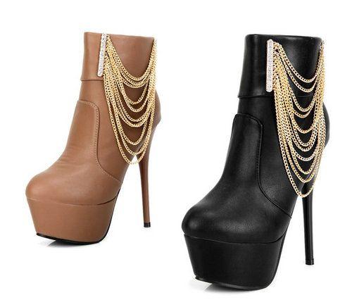 best cheap af895 c22aa Luxus Plateau Pumps High Heels Stiletto Stiefel Stiefeletten ...