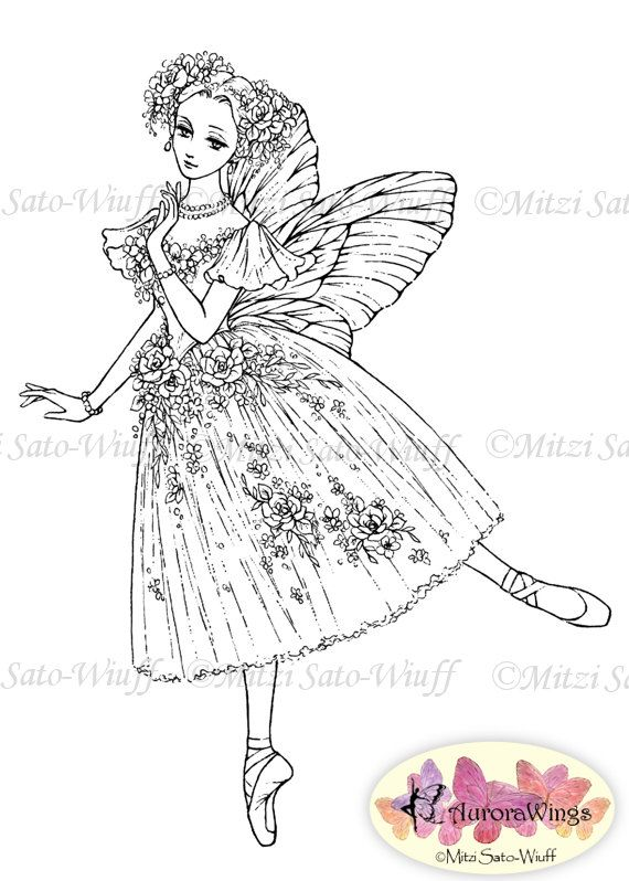 Digital Stamp Instant Download La Sylphide Ballet by AuroraWings ...