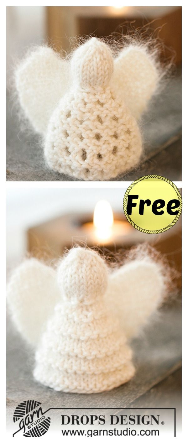 Christmas Angel Ornaments Free Knitting Pattern | Christmas angel ...