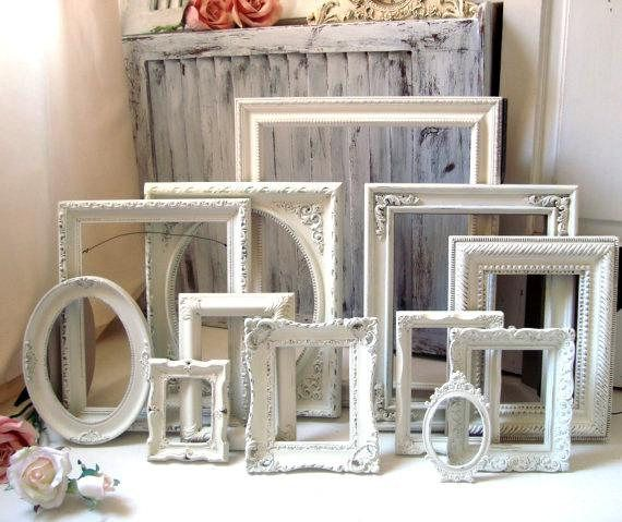 Cream Picture Frame Set Rustic Farmhouse Frames Nursery Farmhouse Picture Frames Rustic Frames Rustic Wedding Frame