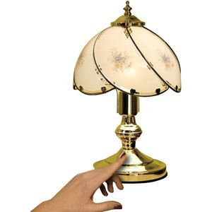 Bedside touch lamps photo 9 small home living pinterest better homes and gardens floral glass shade touch lamp aloadofball Gallery