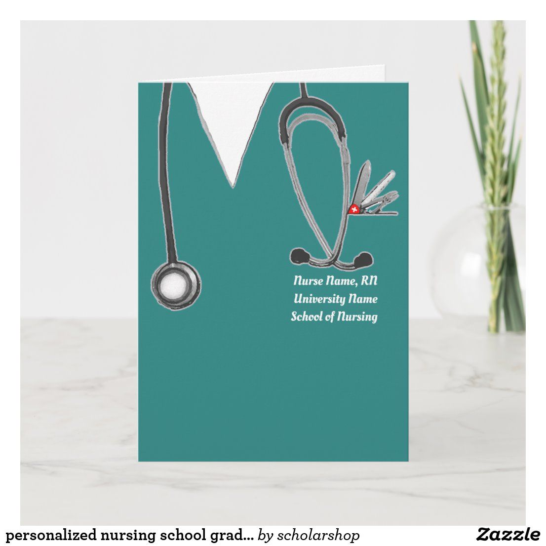 personalized nursing school graduation card