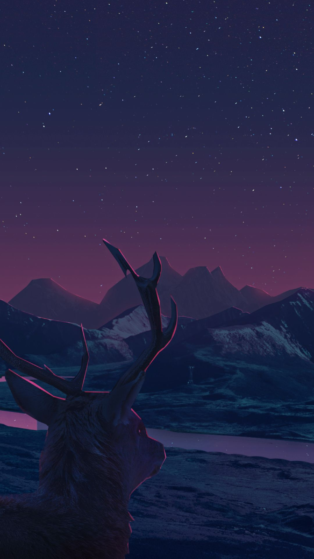 Wallpaper Anime Hd 1080 X 1920 1080x1920 Deer Staring At Sunset Anime Iphone 7 6s 6 Plus Download Wallp In 2020 Anime Hd Hd Anime Wallpapers Anime Wallpaper Download