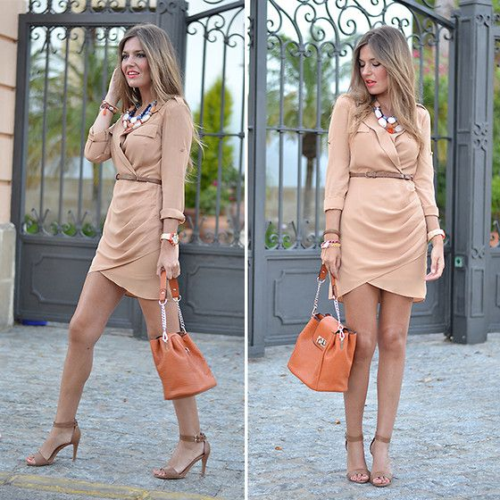 Helena Cueva - 6ks Dress, Parfois Handbag, Parfois Necklace - Safari Dress