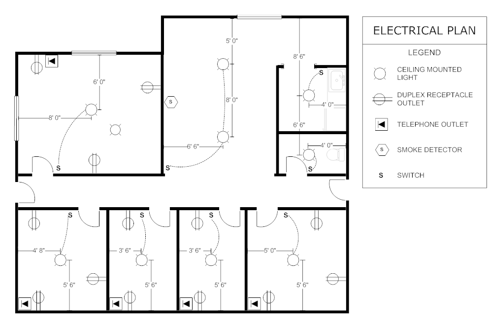 Example image office electrical plan architecture for Making blueprints online