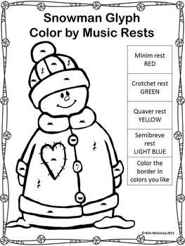 Music Symbol Glyphs Music Coloring Christmas Music Activities Christmas Music Coloring