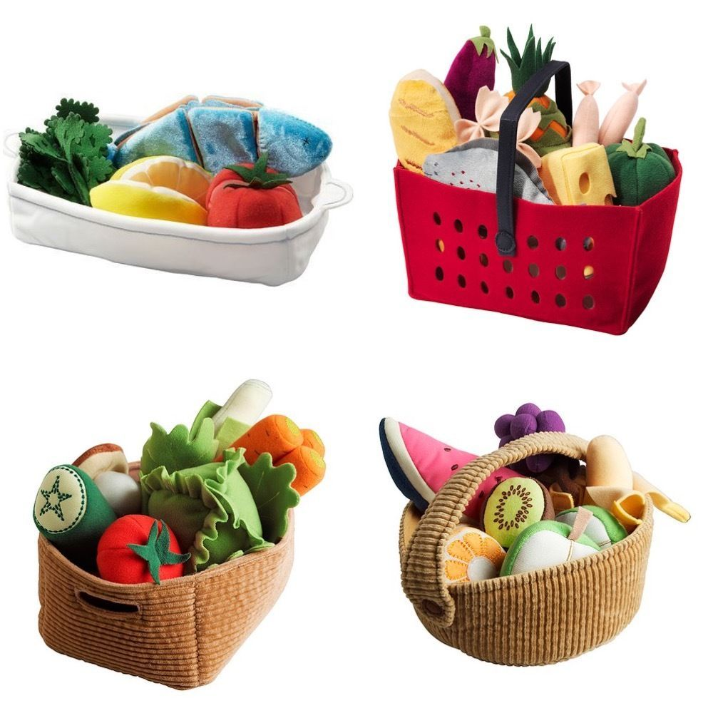 ikea duktig vegetables fruit basket stuffed food salmon