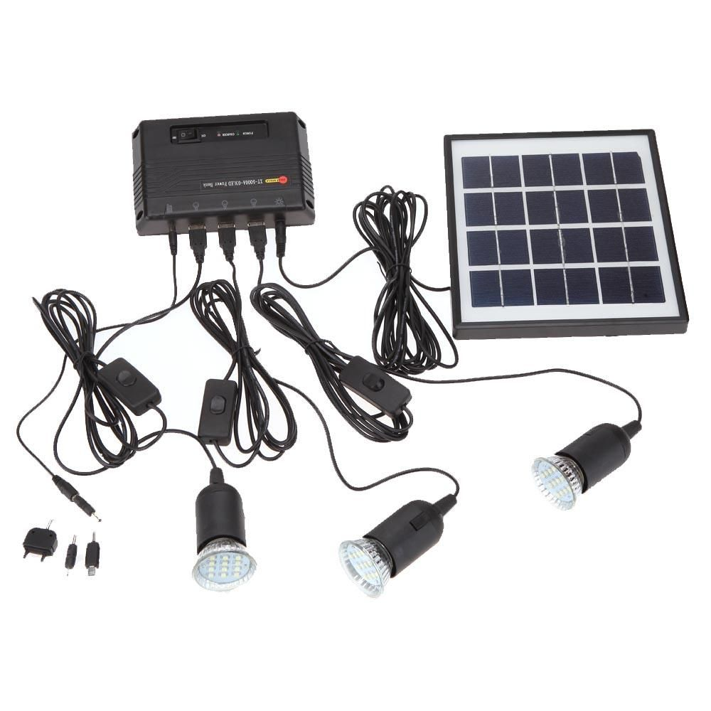 BFCM #CyberMonday #TomTop - #generic 4W Solar Powered Panel 3 LED ...