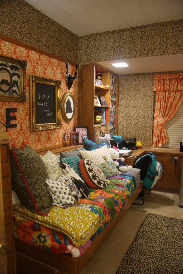 girl's dorm at wall hall, texas tech   dorm room ideas   pinterest