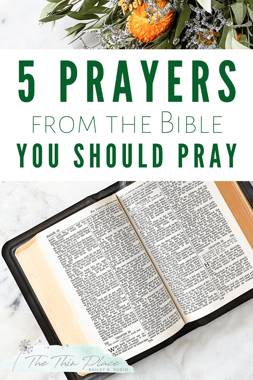 5 Prayers Women of the Bible Prayed