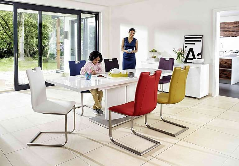 Shop Now  Grande White Extending Table And 4 Chairs  Summer Amazing High Gloss Dining Room Furniture Design Inspiration