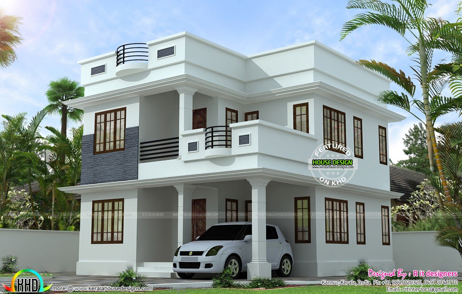 House. Neat and simple small house plan   Kerala home design and floor