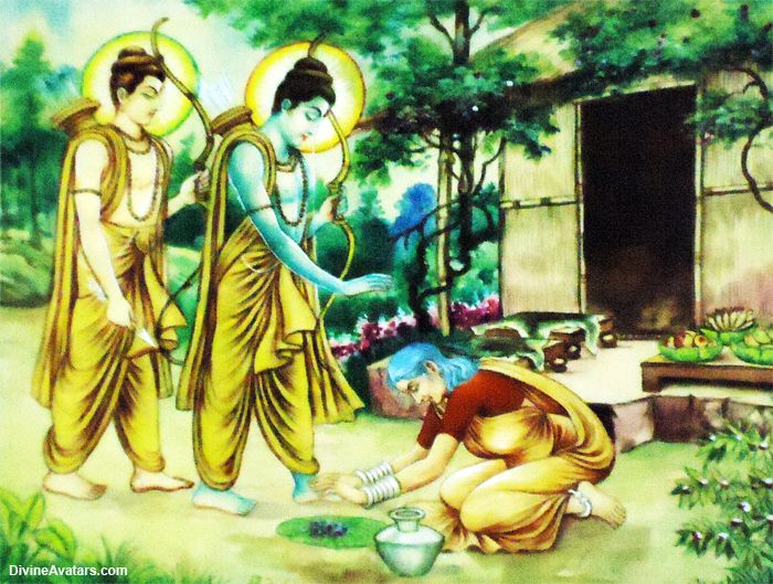 Ramayana - Rama - Lakshmana - Sabari - Forest | Hinduism