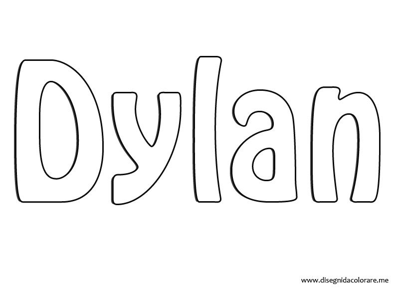Dylan Coloring Page