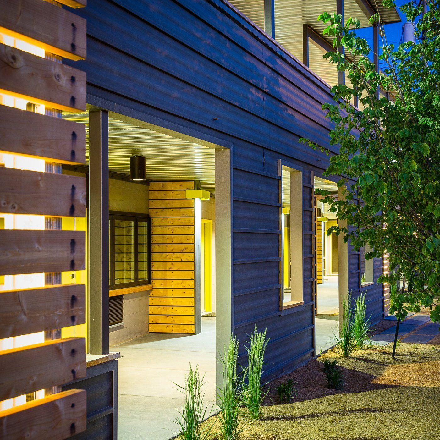 Horizontally Installed Metal Siding Metal Siding Modern Exterior Corrugated Metal Siding