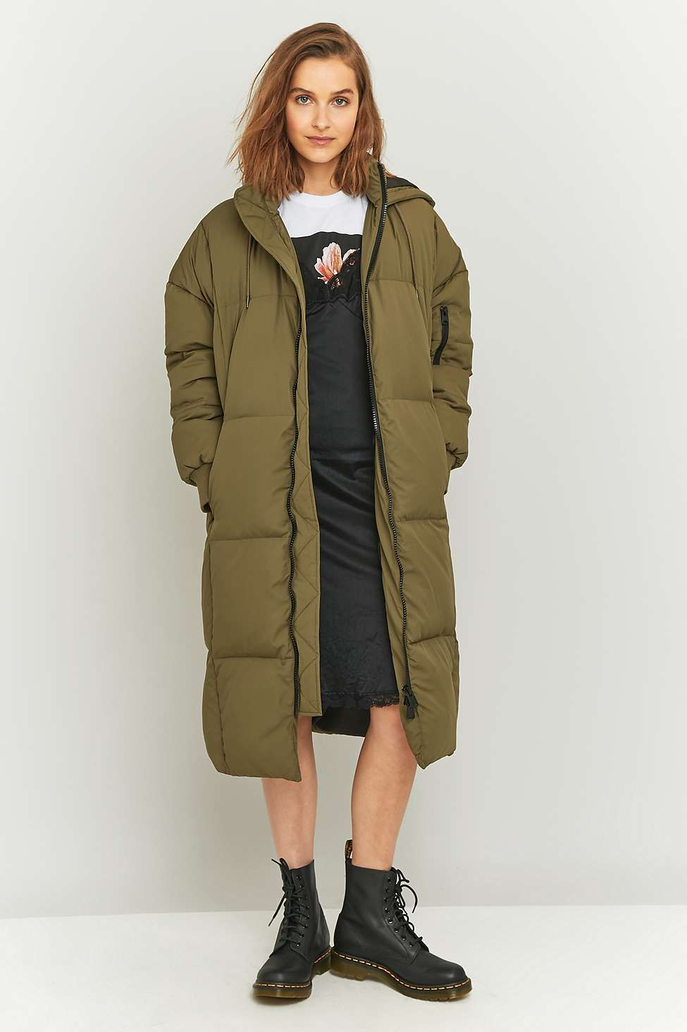 Sweatwater Mens Hooded Winter Puffer Zip Up Overcoat Parka Jackets Coat