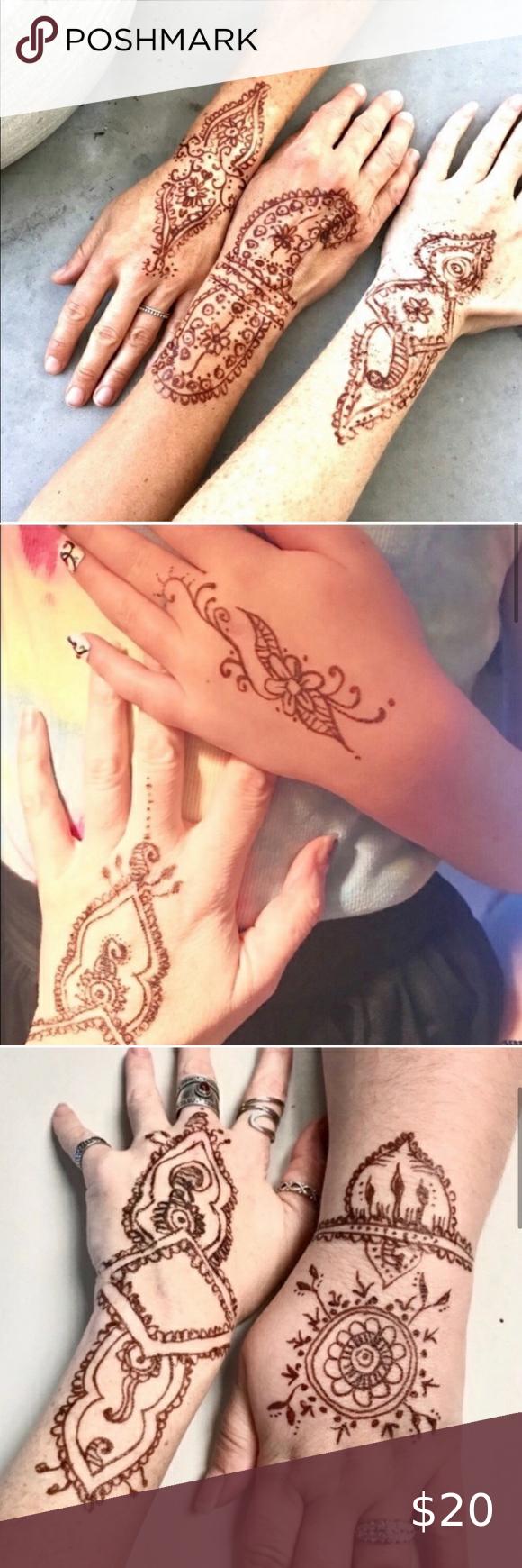 Henna Art Pen Brown Brush Tattoo Body Jewelry Ink Henna Tattoo Kit Brush Tattoo Henna Art Designs