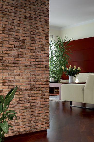 Revestimiento de pared con acabado en ladrillo elemento for Revestimiento de ladrillo decorativo