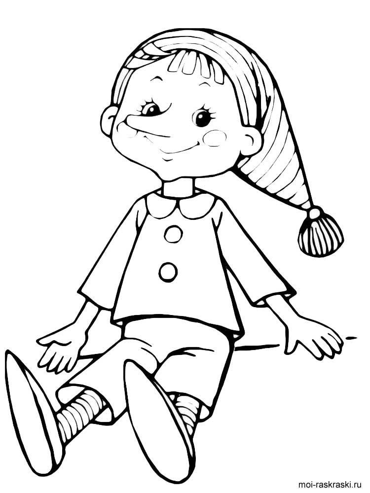 Färbung Pinocchio. Herunterladen und drucken Färbung Pinocchio ...