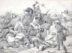 Slag bij Warns, september 1345 bij Satvoren, Friesland, waarbij het leger van de graaf van Holland werd verslagen