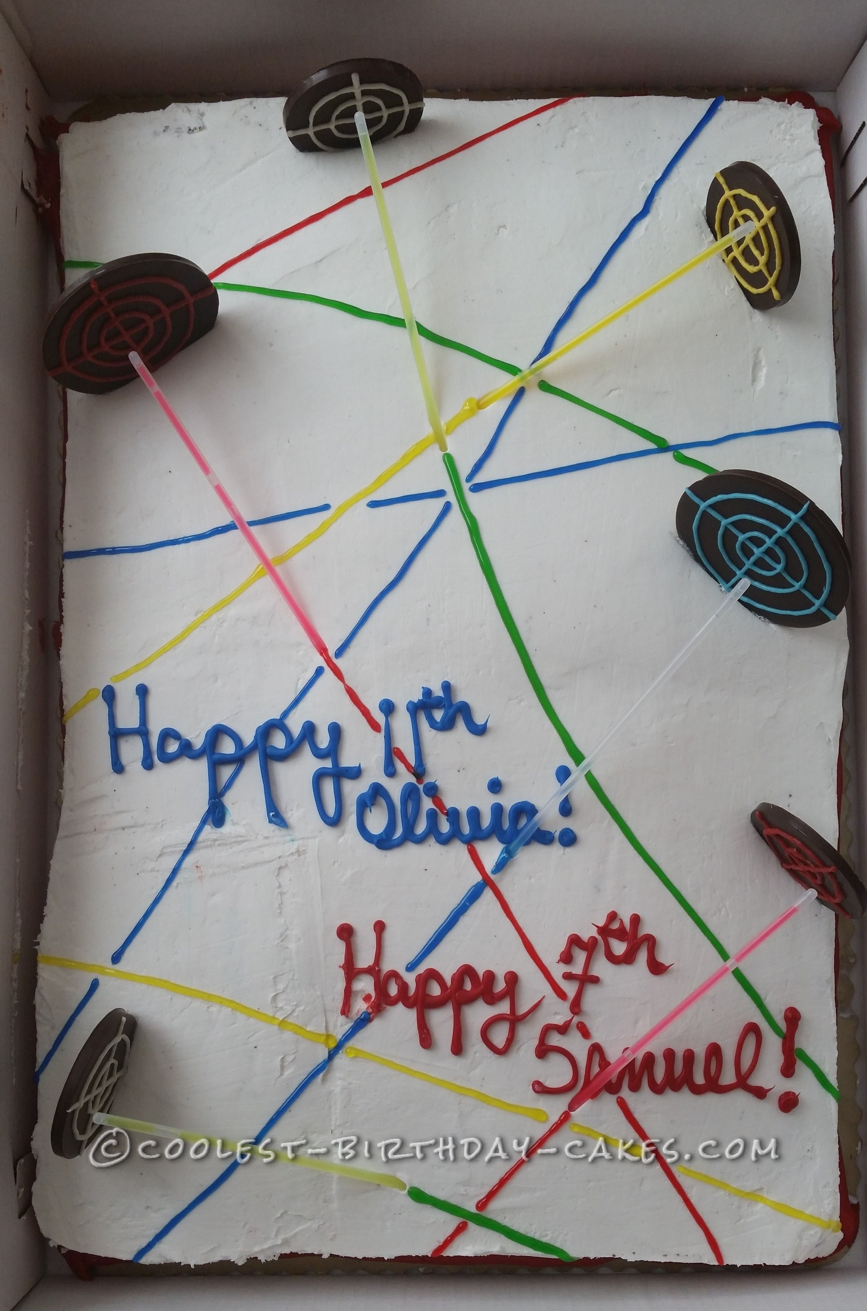 Light Up Laser Tag Cake Laser tag birthday Birthday cakes and