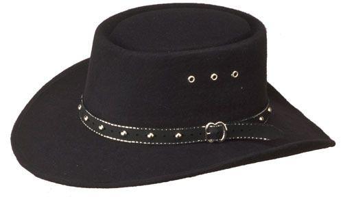 2edad85d Black Felt COWBOY GAMBLER HAT & Band - L to XL - 7 1/4 to 7 5/8 or 58 to 61  cm #WesternExpress #CowboyHat