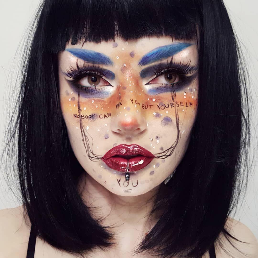 Lou Von Bright on Instagram Halloween makeup pretty