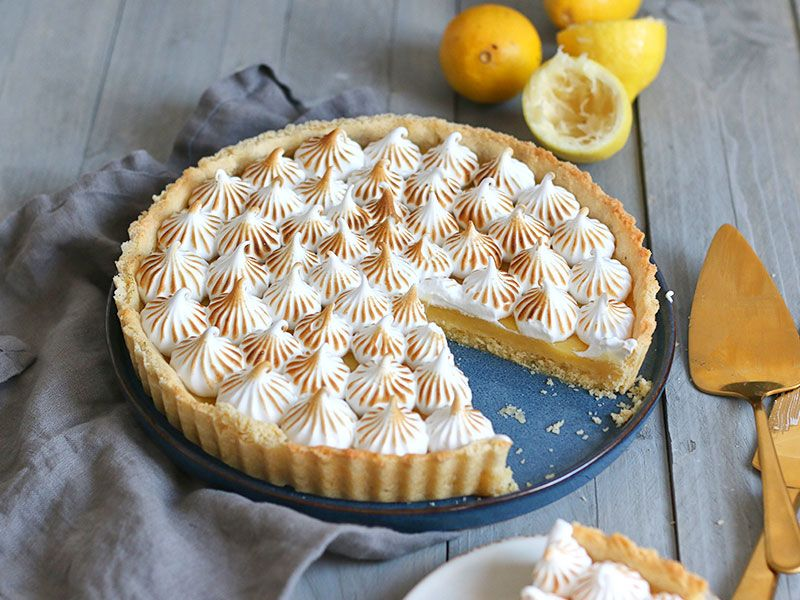 Tarte au Citron Meringuée (Lemon Meringue Tart) | Bake to the roots