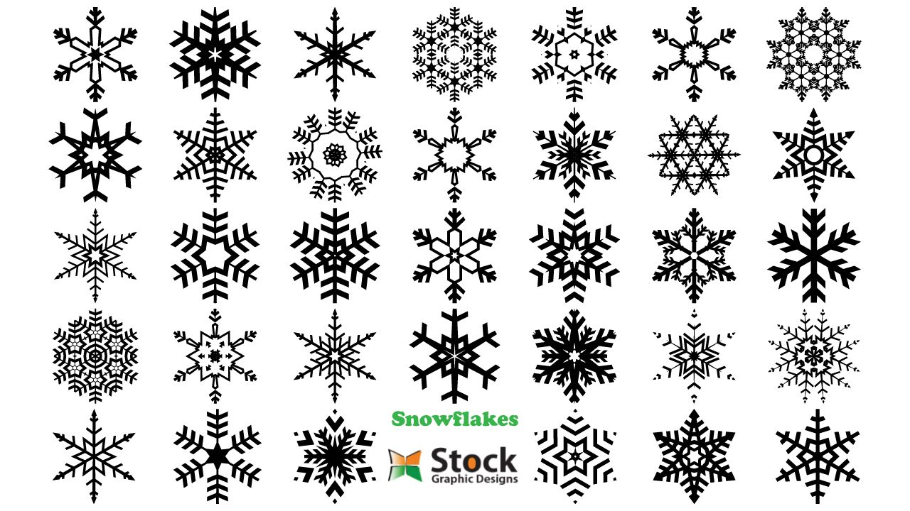 Christmas Snowflakes Vector Photoshop Brushes Stock Graphic Designs Christmas Vectors Christmas Snowflakes Vector Free