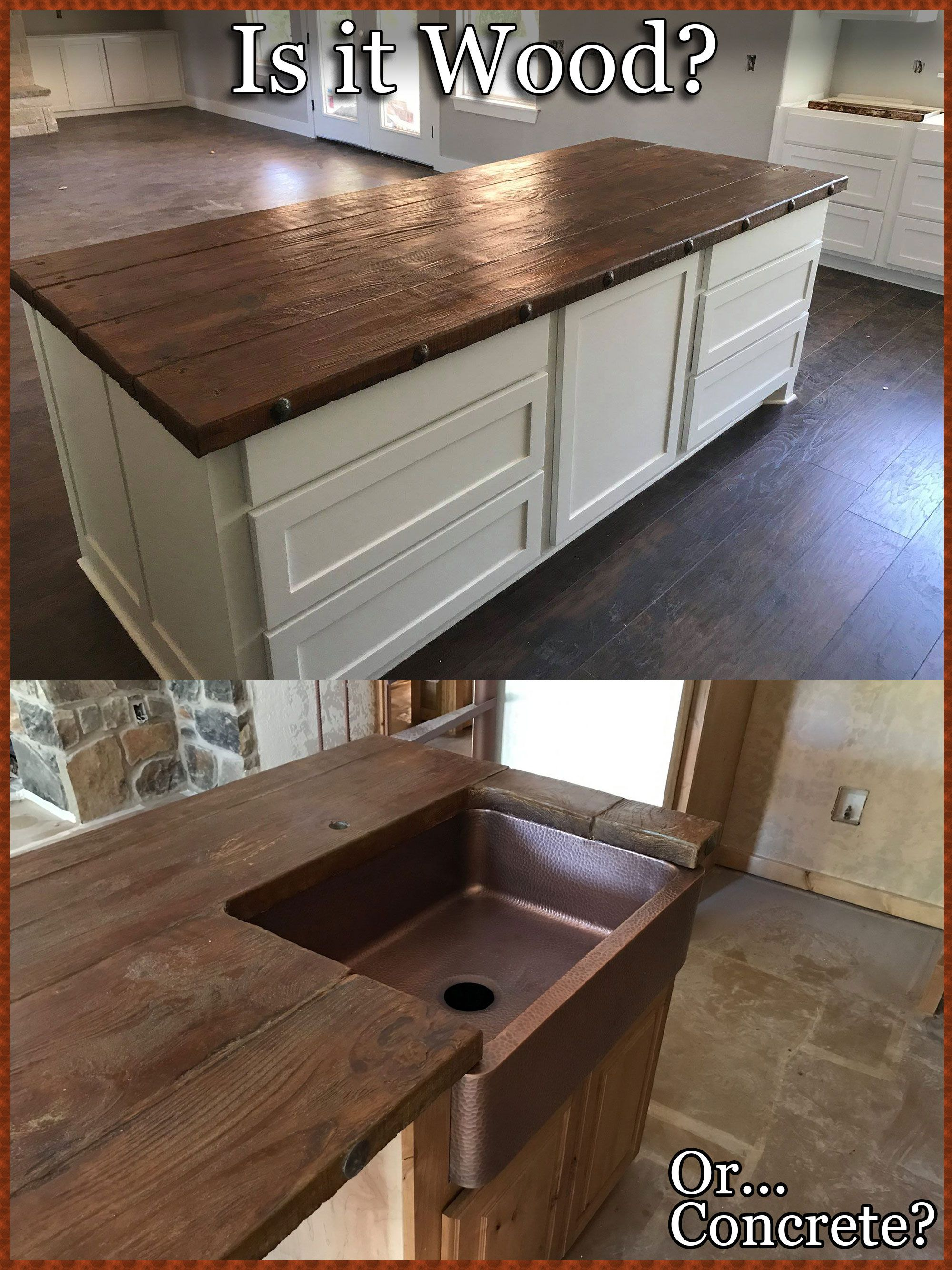 How To Make Faux Wood Concrete Floor Kitchen Remodel Countertops