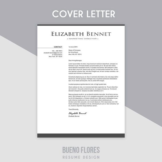 Resume Template Elizabeth Bennet  Cover Letter  Pc  Mac