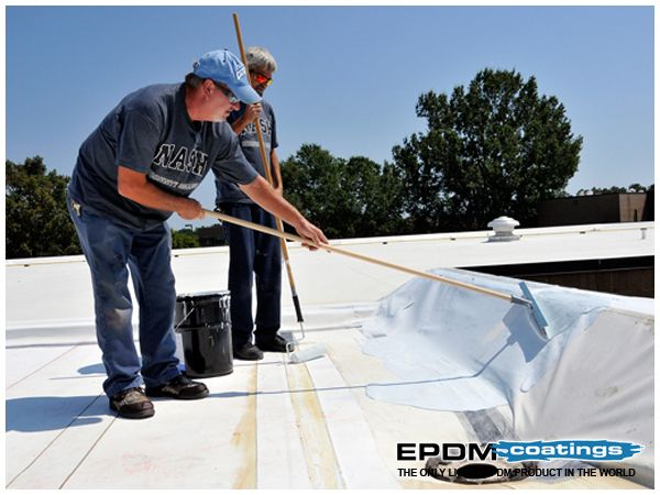 Epdm Roof Coatings Made Easy To Maintain Roof Roof Coating Liquid Roof Rv Roof Repair